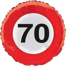 70 - Folie ballon - verkeersbord - 18 inch/45cm