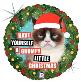 Have Yourself a Grumpy Little Christmas - Folie Ballon - 18 Inch/45cm
