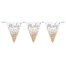 Party - Confetti - div. Kleuren - Vlaggenlijn - 6 m.