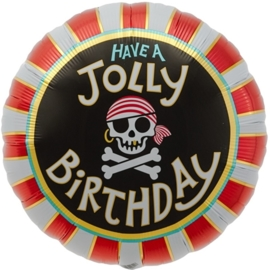 Have a Jolly Birthday - Piraten Feest - Folie Ballon -18Inch/45ch