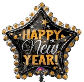 Happy New Year ! - Folie Ballon - XXL -  30 x 30 Inch/76x76 cm