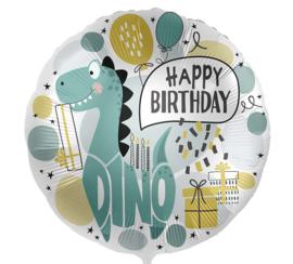 Happy Birthday - Dino Party - Folie Ballon 17 Inch/43cm