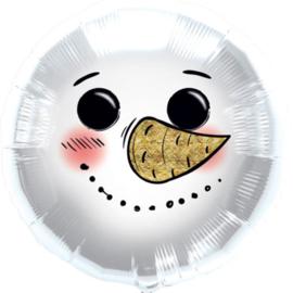 Sneeuwpop Hoofd - Folie ballon - 18 Inch/45 cm