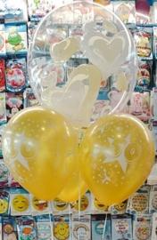 50 - Jaar Getrouwd - Gouden Huwelijk  - Latex ballon - 12 Inch / 30 cm