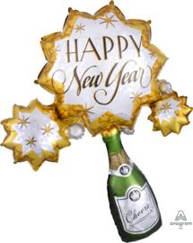 Happy New Year - Cheers - XXL  Folie Ballon  - 36x30Inch/91x76cm