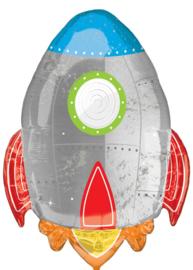 Raket - XXL Folie ballon - 29 inch/73 cm