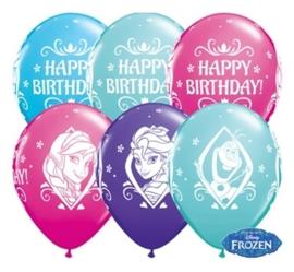 Disney Frozen  - Happy Birthday  - Latex Ballon-  11 Inch/ 27,5cm