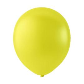 Gele ballonnen om te vullen met helium - Metallic geel - glans ballonnen - 30 cm - 5stk