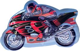 Race Motor - Rood - XL Folie Ballon - 27 Inch / 65cm