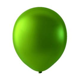 Groene latex ballonnen om te vullen met helium - Metallic Groen - glans ballonnen - 30 cm - 5stk
