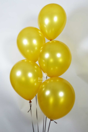 Helium Ballonnentros  - 5 Ballonnen - Goud
