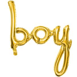 Boy -Script Folie Ballon - Goud - Handgeschreven - 77x70 cm