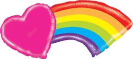Regenboog Hart - Roze, Rood,Oranje,Groen,Blauw,Paars - 43inch/109cm