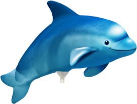 Dolfijn - Blauw - Folie ballon - S / 21cm