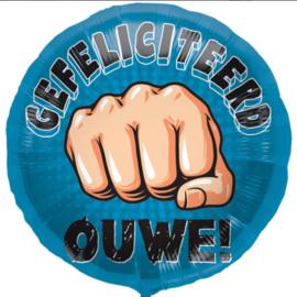 Gefeliciteerd Ouwe! - Box Ouwe - Folie Ballon - 18 Inch/45cm