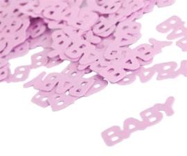 Tafel Confetti Baby/ Dochter -Baby  Roze - Folie - 15 gr.