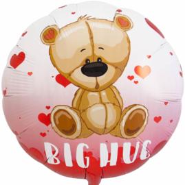 Big Hug - Lieve beer met hartjes - Folie Ballon - 18 Inch/ 45 cm