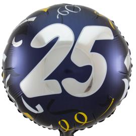 25- Zilver / Goud folie ballon - 18 Inch/45cm