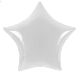 Ster - Wit - Folie Ballon - 18 Inch/45 cm
