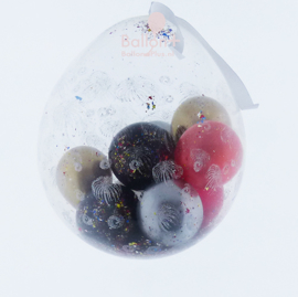 Vuurwerk Ballon - Laat 'm binnen Knallen -incl.Confetti en Ballonnen- Kleur naar wens te bestellen - 18 inch/45cm