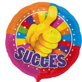 Succes - Duim omhoog - div. Kleuren - Folie Ballon - 17 Inch/ 43 cm