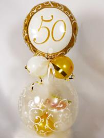 Cadeau - Kado Ballon - 50 - Jaar Getrouwd - Folie Top Ballon
