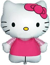 Hello Kitty - Roze - XL Folie Ballon - 26 inch / 66 cm