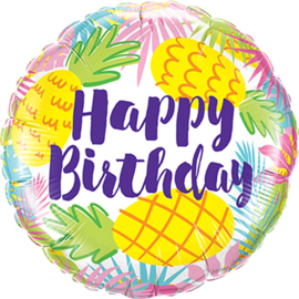 Happy Birthday - Ananas - Folie Ballon - 18 Inch/46 cm