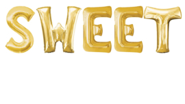 SWEET - Letters - XXL - Goud - 86 cm - folieballon letter alfabet helium of lucht