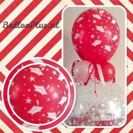 Cadeau - Kado Ballon - Geslaagd - Hartelijk Gefeliciteerd - Latex Topballon