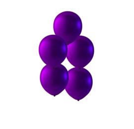 Paars ballonnen om te vullen met helium - Metallic - glans ballonnen - 35 cm - 5stk