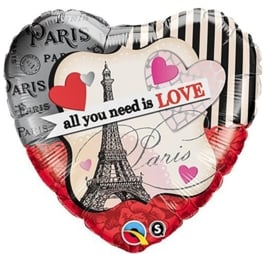 All You Need Is Love - Folie hart ballon - 18 inch/45cm