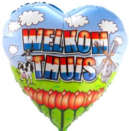 Welkom Thuis - Holland - Folie Ballon - 18 inch/45 cm + 29 Inch/74 cm