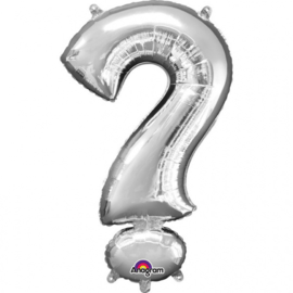 ?  - Vraagteken - Zilver - Folie Ballon -  11 X 16 Inch / 27 X   40 cm -  Lucht - Gender reveal party