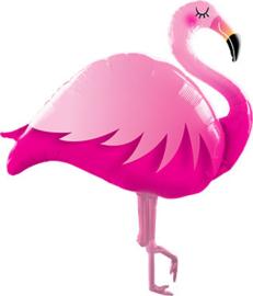 Flamingo - Roze/Fuchsia - XXL Folie Ballon -  46 Inch/117cm