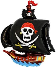 Piratenschip - Piraten Feest - Folie Ballon - 24 Inch /60 cm