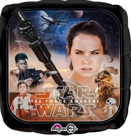 Disney - Star Wars - The Force Awakens - Folie Ballon - Vierkant - 18 Inch/45cm