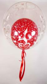 Decoratie Helium Ballon  - 16/15/60 - Harten-24 Inch/60cm