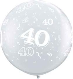 40 - Doorzichtige Ballon XXL -Latex Ballon - 36Inch / 90cm