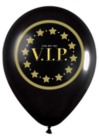 Latex ballon - You are my V.I.P. - Zwart / Goud- 12 Inch/30 cm - 5 st