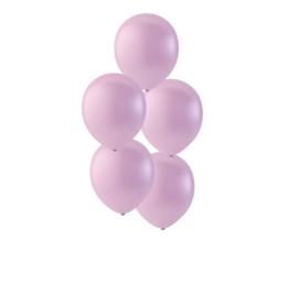 Roze ballonnen om te vullen met helium - Metallic - glans ballonnen - 35 cm - 5stk