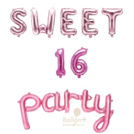 Sweet 16 Party - Ballonnen Pakket - Roze / Rose Goud / Fuchsia(lucht)