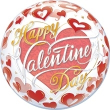 Bubbles - Happy Valentine Day - Ballon - 22 Inch / 56 cm