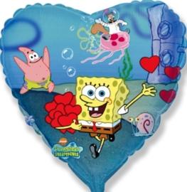 Sponge Bob - Hart - Folie Ballon - 18 Inch / 45 cm