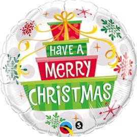 Have a Merry Christmas - Folie Ballon - 18 Inch. / 45cm