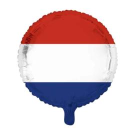 Nederlandse vlag - Rood, Wit, Blauw Folie ballon - 18 Inch/45cm