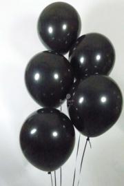 Helium Ballonnentros  - 5 Ballonnen - Zwart