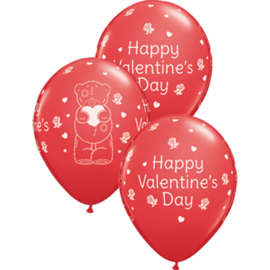 Happy Valentine's Day - Me to You Beer - Rood - LatexBallon - 11 Inch. / 27,5 cm - 5 st.