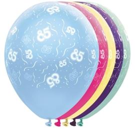 85 - Nummer - div. kleuren -  latex ballon - 11 Inch / 27,5cm