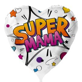 Super Mama- Folie Ballon - 18 Inch/45 cm